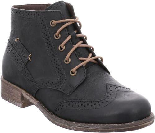 Josef Seibel Sienna 74 Ladies Ankle Boots Black